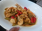 Wild Caught Banana Prawns & Eggplant