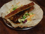 Smokey BBQ Pork Belly & Chocolate-Chilli Roti